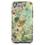 Árbol del corazón de los Cupids del Victorian del Funda De iPhone 6 Tough