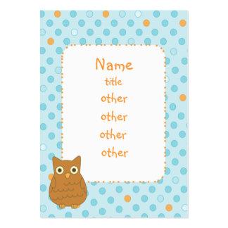 Árbol del corazón del búho plantilla de tarjeta personal
