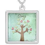 árbol del corazón del oma collar personalizado