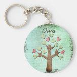 árbol del corazón del oma llaveros personalizados