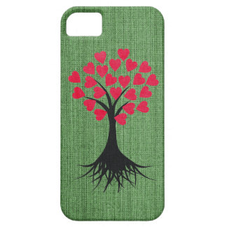 Árbol del corazón en la caja verde del iPhone 5 iPhone 5 Case-Mate Carcasa