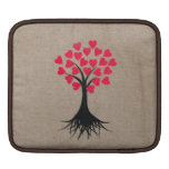 Árbol del corazón fundas para iPads
