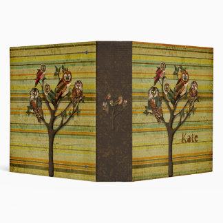 """Árbol del cuaderno personalizado retro de los carpeta 2"""""""