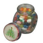 árbol del día de fiesta de la cinta frascos de cristal jelly belly