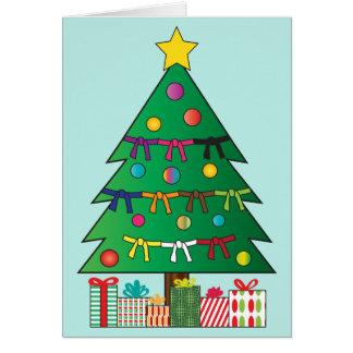 Árbol del día de fiesta del navidad de las correas tarjeta de felicitación