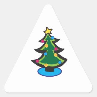 Árbol del día de fiesta calcomanías trianguladas personalizadas