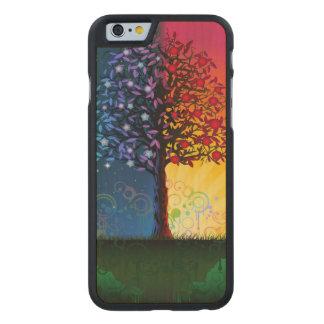 Árbol del día y de la noche funda de iPhone 6 carved® de arce