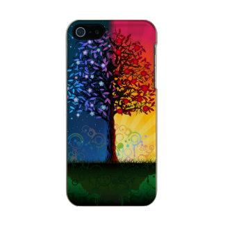Árbol del día y de la noche carcasa de iphone 5 incipio feather shine