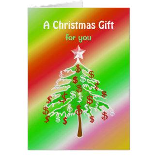 Árbol del dinero de las Felices Navidad - dinero i Tarjetas