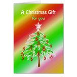 Árbol del dinero de las Felices Navidad - dinero Tarjeta De Felicitación