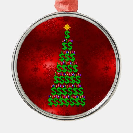 Árbol del dinero del navidad adornos