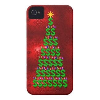 Árbol del dinero del navidad iPhone 4 Case-Mate funda