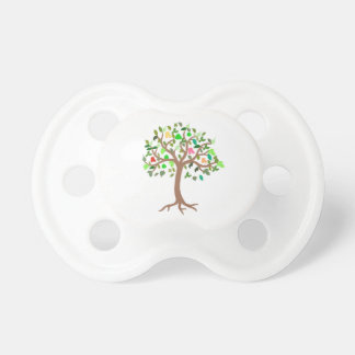 Árbol del diseño de la vida en pacificador del chupetes de bebe