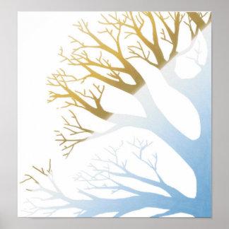 Árbol del Dos-Tono Impresiones
