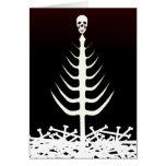 Árbol del esqueleto del navidad felicitaciones