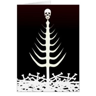 Árbol del esqueleto del navidad tarjeta de felicitación