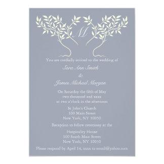 Árbol del estaño de la invitación del boda de la