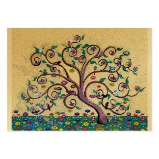 Árbol del estilo de Klimt Tarjetas De Visita Grandes