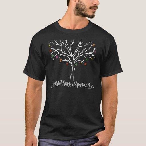 Árbol del feliz Halloween y camisa de la hoja