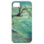 Árbol del flor y el río iPhone 5 funda