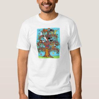 Árbol del gato de la vida 2 camisas