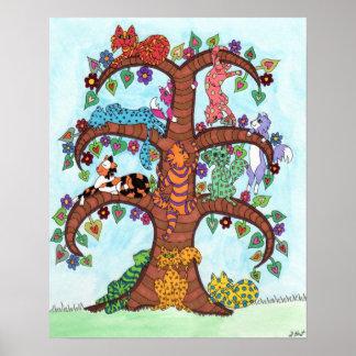 Árbol del gato de la vida 3 impresiones