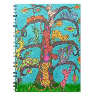 Árbol del gato de la vida libro de apuntes