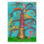Árbol del gato de la vida felicitación