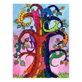 Árbol del Gecko de la vida Postal