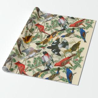 """""""Árbol del giftwrap del pájaro"""" (pájaros) Papel De Regalo"""