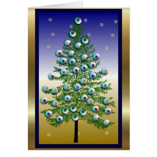 Árbol del globo del ojo tarjeta de felicitación