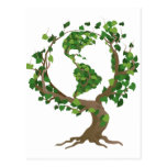 árbol del globo tarjeta postal