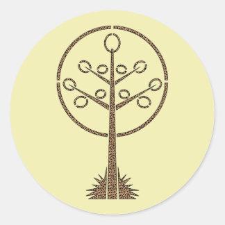 Árbol del guepardo pegatina redonda