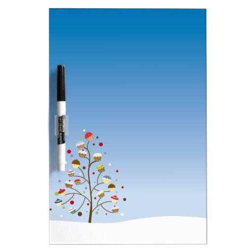 Árbol del invierno de magdalenas pizarras blancas de calidad
