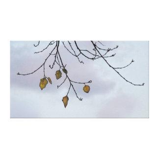 Árbol del invierno e impresión de la lona del ciel impresión en lienzo estirada