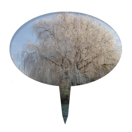 Árbol del invierno figuras de tarta