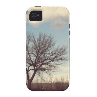 Árbol del invierno vibe iPhone 4 carcasas