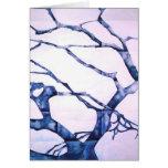 Árbol del invierno tarjeta de felicitación