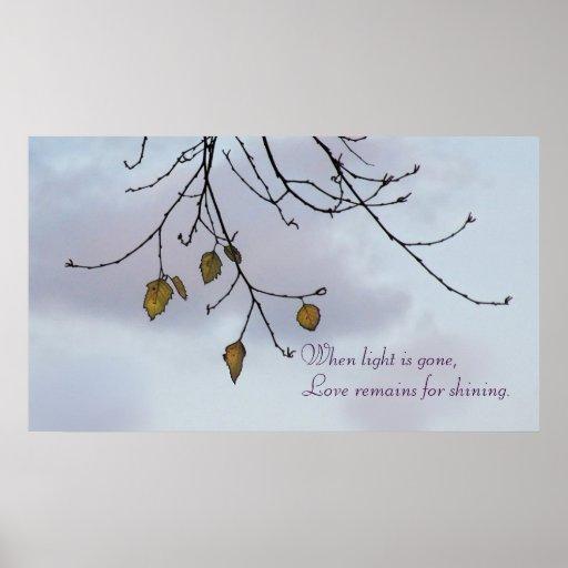 Árbol del invierno y poster inspirado del cielo