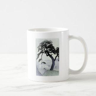 Árbol del japonés del vintage taza