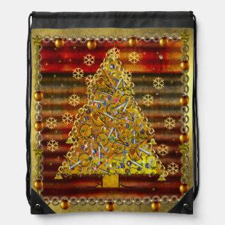 Árbol del metal del navidad mochilas