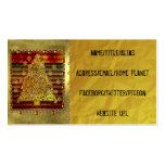 Árbol del metal del navidad plantillas de tarjetas personales