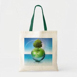 Árbol del mundo - concepto de la ecología bolsas