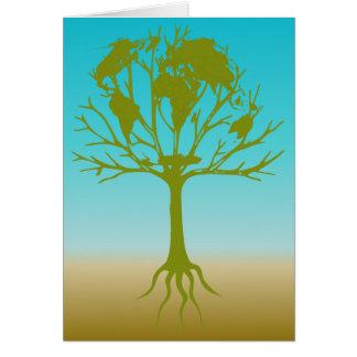Árbol del mundo tarjeta de felicitación