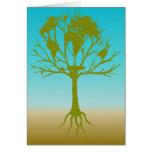 Árbol del mundo tarjetas