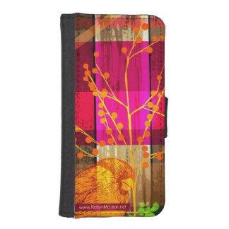 Árbol del n del pájaro billetera para iPhone 5