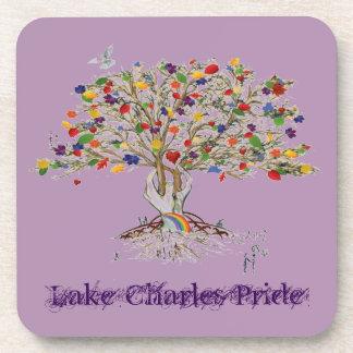 Árbol del orgullo de Lake Charles (el orgullo Posavasos De Bebida