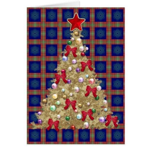 Árbol del oro tarjeta de felicitación