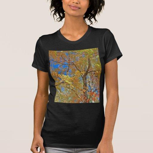 Árbol del otoño camisetas