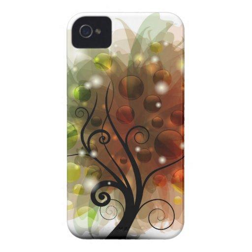 Árbol del otoño Case-Mate iPhone 4 protectores